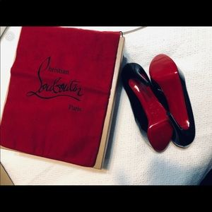Christian Louboutin patent leather pump